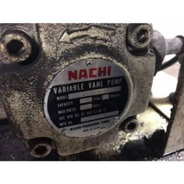 Nachi 3 HP Hydraulic Unit, Nachi Vane Pump # VDR-1B-1A3-U-1146K, OFF OKUMA LATHE