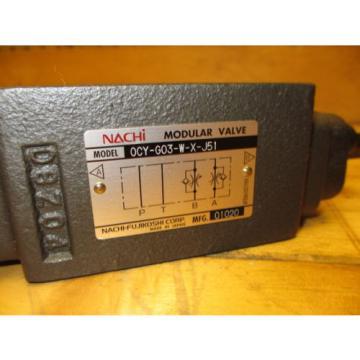 Nachi 0CY-G03-W-X-J51 Modular Hydraulic Valve OCY-G03-W-X-J51