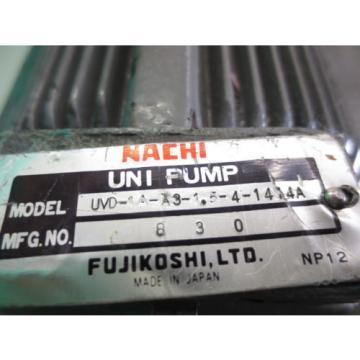 MAZAK NACHI HYDRAULIC MOTOR PUMP UVD-1A-A3-15-4-14-1414A VHR-1B-1A5
