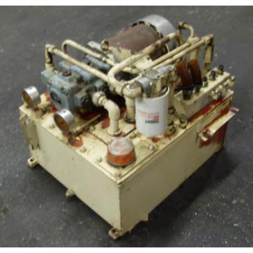 Nachi 22 kW 3HP Oil Hydraulic Unit, 220V, Nachi Pump VDR-11B-1A3-1A3-22, Used