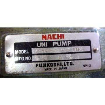 SHOWA VDRU-1A-40BHX 293 Hydraulic Power Unit NACHI USV-0A-A3-075-4-1830B Pump