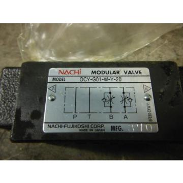 NACHI VALVE OCY-G01-W-Y-20 ~ Origin