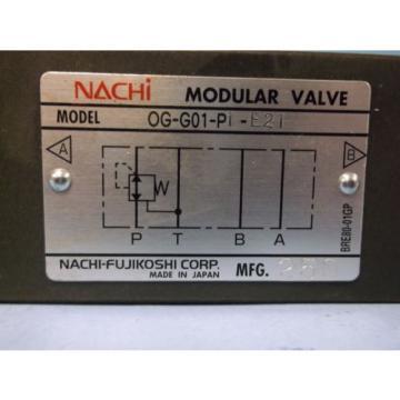 NACHI PRESSURE REDUCING MODULAR VALVE OG-G01-P1-E21