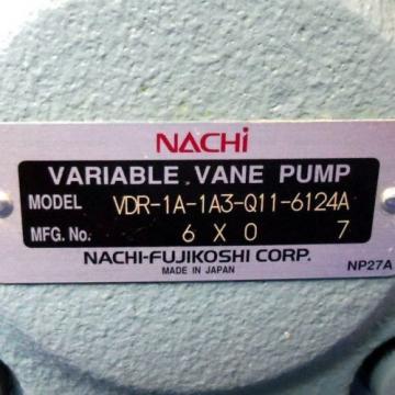 NACHI VARIABLE VANE PUMP VDR-1A-1A3-Q11-6124A Origin