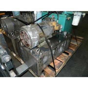 Nachi 3 HP 22 kW Hyd Unit w/ Tank, Nachi Uni Pump UPV-1B-22N1-22S-4-Z-11