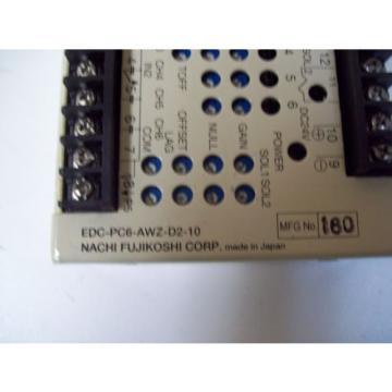 NACHI FUJIKOSHI EDC-PC6-AWZ-D2-10 HYDRAULIC VALVE AMP - USED - FREE SHIPPING