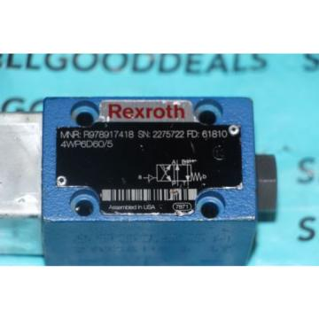 Rexroth R978917418 Directional Valve 4WP6D60/5 origin