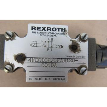 REXROTH VALVE 4WE6D52/0FAW120-60NDA MADE IN GERMANY FREE SHIPPING