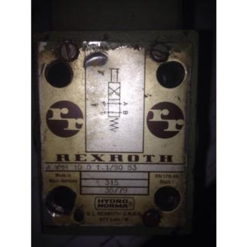 Rexroth 4 WMR 10 D 11/so 53 Limit Valve USED
