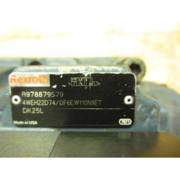 Rexroth 4WEH22D74/OF6EW110N9ETDK25L Hydraulic Directional Valve R978879579