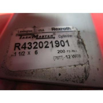 "Rexroth Italy Australia 1-1/2x6 Task Master Cylinder, R432021901, 1-1/2"" Bore, 6"" Stroke, 200PSI"