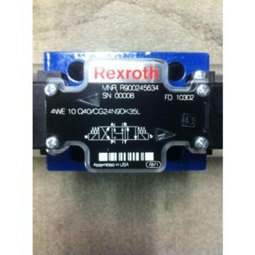 REXROTH 4WE10Q40/CG24N9DK35L DIRECTIONAL SOLENOID VALVE Origin R900245634