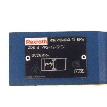 Origin REXROTH ZDB 6 VP2-42/315V VALVE MNR: R900409898 FD: 88416