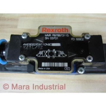 Rexroth Bosch R978873115 Valve 4WE6E62/EW110N9D - origin No Box