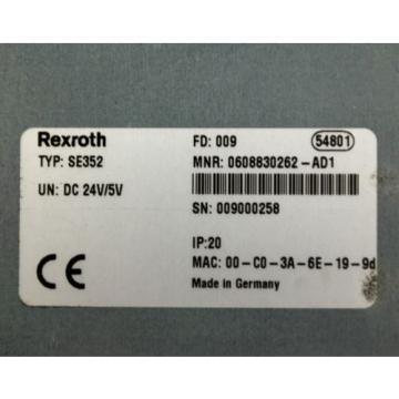 Rexroth Germany Japan SE352 0608830262-AD1 Control Unit