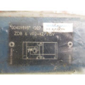 Mannesmann Rexroth ZDB 6 VP2-42/315V Hydraulic Pressure Relief Sandwich Valve