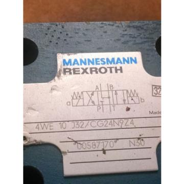 Mannesesmann Rexroth Directional Valve 4WE 10 J32/CG24N9Z4