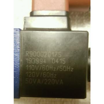 Rexroth Bosch R900552321 Valve 4WE6D62/OFEW110N9K4 - Used Excellent Condition