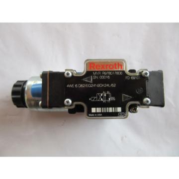 Rexroth R978017806 Valve 4WE6D62/EG24N9DK24L/62 VGC Free Shipping