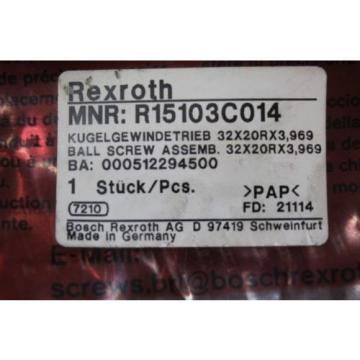 BOSCH REXROTH LINEAR BALL SCREW DRIVE R150337065 R15103C014 32X20RX3,969 Origin