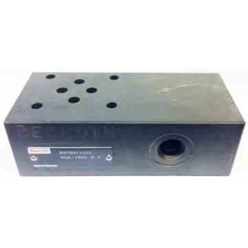 Bosch Rexroth AG R978913155 AGA-1855-0-C Hydraulic Valve Manifold Sandwich Plate