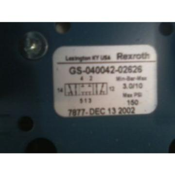 Origin BOSCH REXROTH GS-040042-02626 5P 4-WAY 3POS 120V DOUBLE SOLENOID CERAM VALVE
