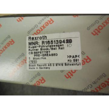 Origin REXROTH LINEAR BEARING # R165139410