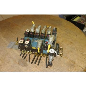 Rexroth Ceram 6-Valve Air Control Manifold Assembly w/ Regulators FREE SHIP