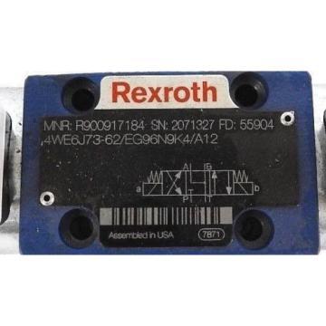Origin REXROTH R900917184 DIRECTIONAL CONTROL VALVE 4WE6J73-62/EG96N9K4/A12