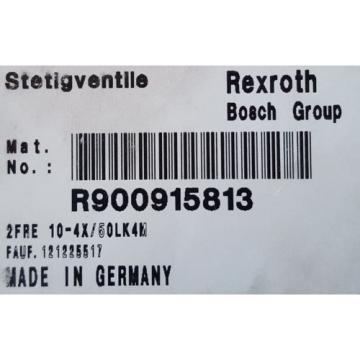 Origin  REXROTH 2FRE10-44/50LK4M CONTROL VALVE R900915813  2FRE 10-44/50 BOSCH