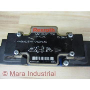 Rexroth Greece Singapore Bosch R978017736 Valve 4WE6J62/EW110N9DAL/62 - New No Box