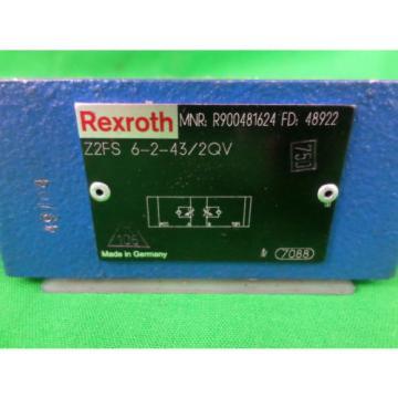 Rexroth Z2FS 6-2-43/2QV Stackable Flow Control Valve