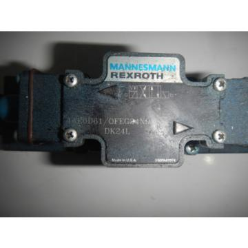 Rexroth 4WE6D61/OFEG24N9 D03 Hydraulic Directional Valve