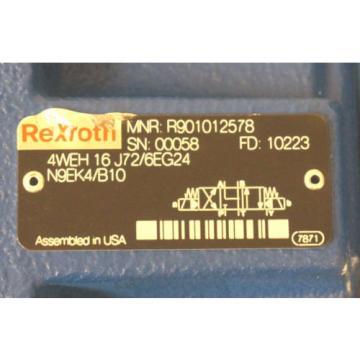 Origin REXROTH 4WEH 16 J72/6EG24N9EK4/B10 SPOOL VALVE W/ R900548271 CONTROL VALVE