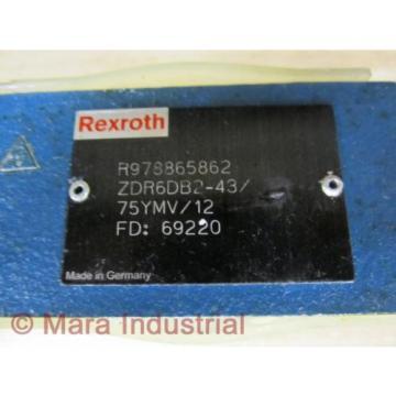 Rexroth Russia Singapore Bosch R978865862 Valve ZDR6DB2-43/75YMV/12 - New No Box