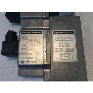 REXROTH India Mexico 561-021-473-0 PNEUMATIC CONTROL VALVE