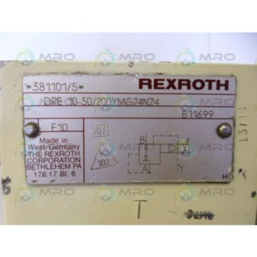 REXROTH DRE10-50/200YMG24NZ4 VALVE USED