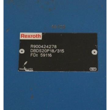 Origin REXROTH R900424278 VALVE DBDS20P18/315 FD: 59116