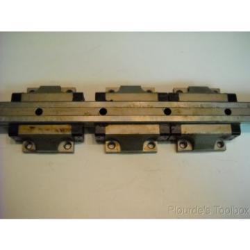 Lot 6 Bosch Rexroth 1651-71X-10 Star Linear Motion Guide Bearings amp; 2 Rails