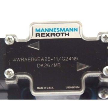 Origin MANNESMANN REXROTH 4WRAEB6EA25-11/G24N9 DK26/MR VALVE W/ 021462A 352 COIL