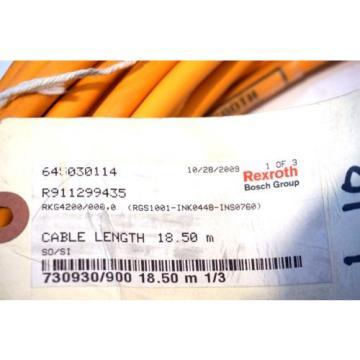 NEW Singapore Greece BOSCH REXROTH RKG4200 / 000.0 CABLE 18.5M RKG42000000