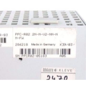 REXROTH Germany Singapore PPC-R02.2N-N-V2-NN-NN-FW CONTROLLER SLAVE MODULE PPCR022NNV2NNNNFW