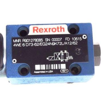 Origin REXROTH 4WE 6 D73-62/EG24N9K72L/A12/62 HYDRAULIC VALVE R901278085