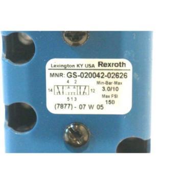 REXROTH GS-020042-02626 HYDRAULIC VALVE GS02004202626