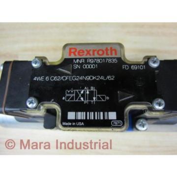 Rexroth Bosch R978017835 Valve 4WE 6 C62/OFEG24N9DK24L/62 - origin No Box