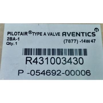 Rexroth 2-BA-1 Push Button Operated 1/4#034; Pneumatic Valve R431003430 P54692-6
