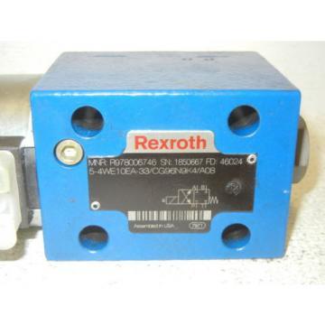 REXROTH R978006746 Origin-NO BOX 5-4WE10EA-33/CG96N9K4/A08 VALVE R978006746