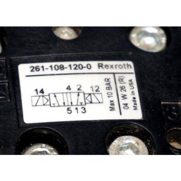 Origin REXROTH R480218642 VALVE PLUGIN VER 44 2 W/ 261-108-120-0 VALVE