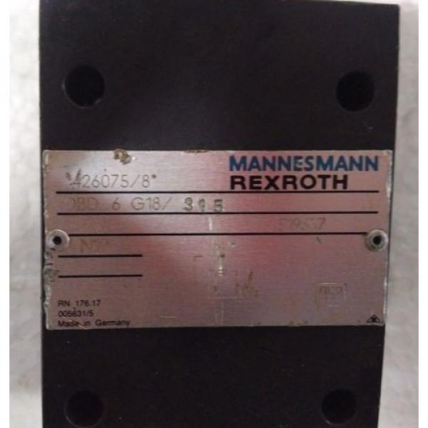 DBD6G18/315 Pressure relief valves,direct operated MANNESMANN REXROTH DBD SERIES #2 image