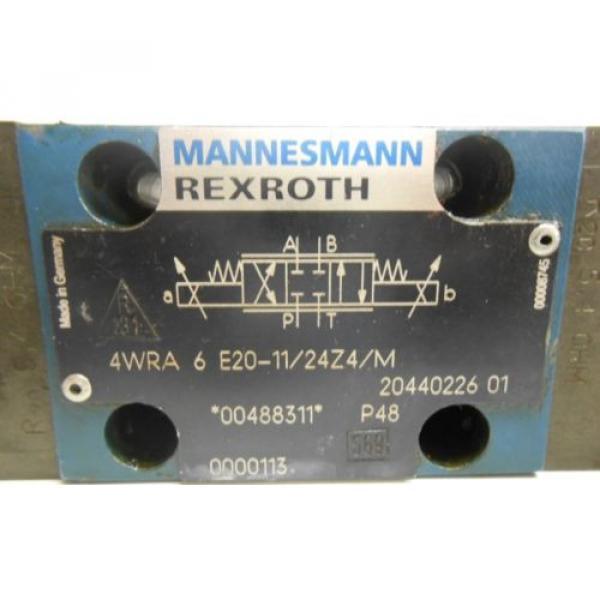 MANNESMANN REXROTH, HYDRAULIC VALVE, 4WRA 6 E20-11/24Z4/M #2 image